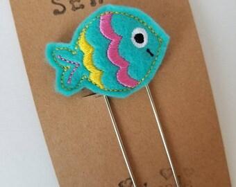 Fish Feltie Jumbo Bookmark - XL - Planner Clip - Planner Accessory- Small Gift
