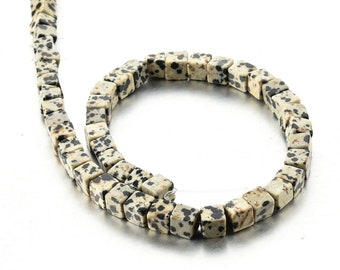 SALE Natural Dalmatian Jasper Beads 6*6mm Cube Beads