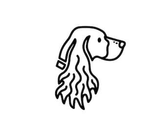 English springer spaniel decal, dog car decal, vinyl decal, springer car sticker, yeti tumbler, crazy dog lady, animal lover, rescue a dog