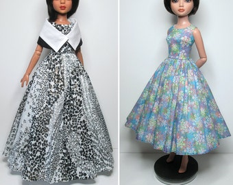 """STRAIGHTFORWARD SEWING Pattern SSP-035: """"50s Chic"""" Lined dresses, petticoats and shoulder wrap, for Ellowyne Wilde & friends"""