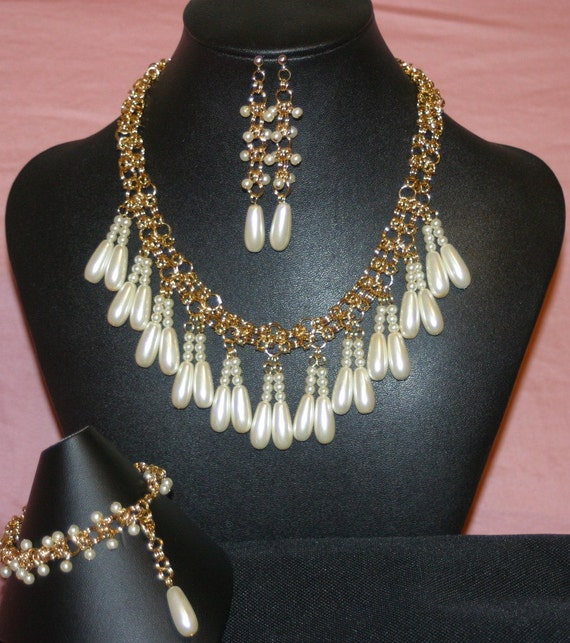 Faux Pearl Bridal / Formal Set