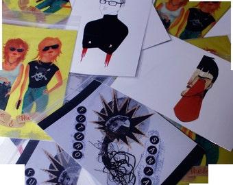 Cartes postales #1 IZ / IZ cartes postales #1(Pack 4u.)