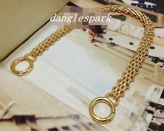17mm metal Replacement Chain Shoulder Strap Metal link Clasp Purse Chain bag chains replacement DC144