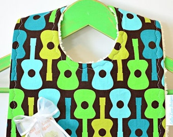 Play Me a Song - Minky Baby Bib