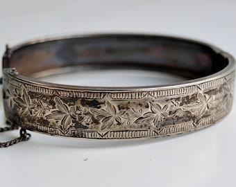 silver vintage antique Bangle Biedermeier silver antique bracelet
