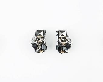 Earrings with Swarovski crystals made in Italy