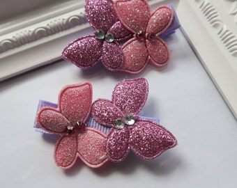 Double Butterfly Rhinestone Hair Clips-Pair