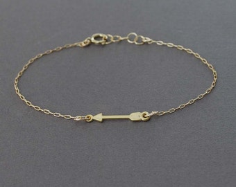 Sideways Arrow Bracelet Gold Silver or Rose Gold