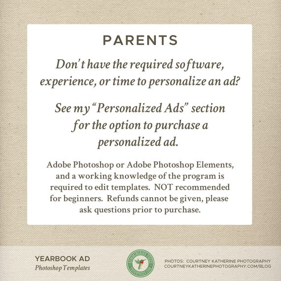 Senior Yearbook Ad Template Graduation Dedication