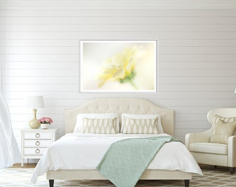 Flower Art, Extra large wall art - Romantic Gift for her - Yellow Daisy Extra large art print - oversized flower print - very large art -