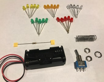 Add LED lighting to your project - An easy to use kit to help you light your crafts! Includes 5-LED's, Switch, Instructions and MORE!