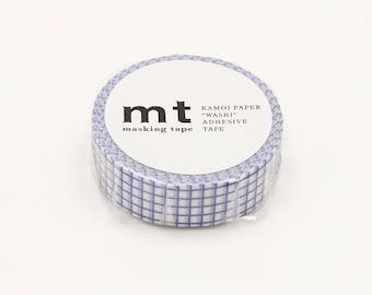 mt 1P Grid Blueberry Japanese Washi Tape Masking Tape  Price depends on order volume. MT01D396