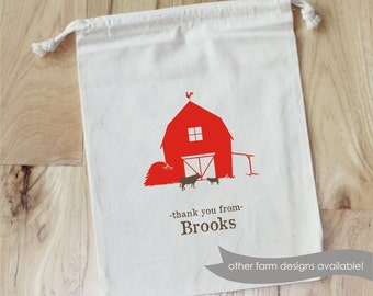 FARM - Personalized Favor Bags - Set of 10