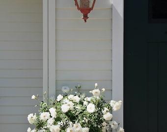 White Flowers Photo, White Roses Photo, 5x7 Photo, California Garden Photo, Botanical Photo, Plant Photo