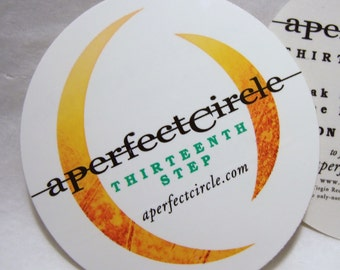 A Perfect Circle Thirteenth Step Album Round New Band Logo Circle Stickers Tool 3 Pack!