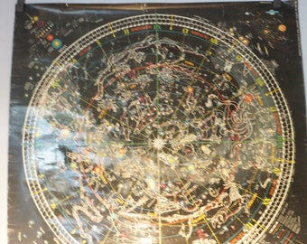 Vintage Celestial Arts Zodiac Constellations poster, Berkeley, California