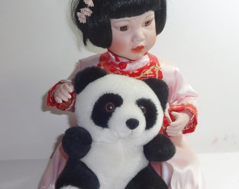 Danbury Mint Mei Mei Doll by Bruce Hsieh--1992. 9 1/2 Inches Tall Crafted in the Phillipines