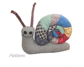 Pattern PDF for Scrap Bag Snail Stuffed Animal Instant Download