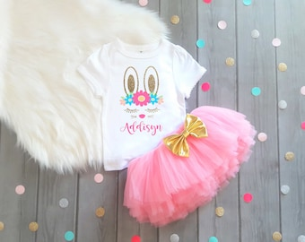 Bunny Shirt, Bunny Outfit, Personalized Bunny Shirt, Girls Bunny Shirt, Baby Girl Bunny Shirt, Girl's Bunny Shirt, Bunny Outfit,Personalized