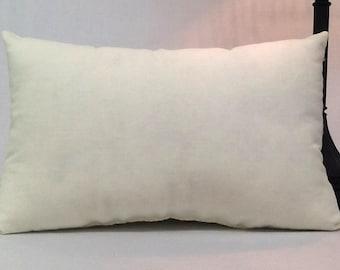 12 inch x 16 inch Pillow - Faux Down pillow insert