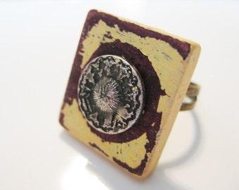 Chippy Scrabble Tile Ring