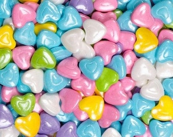 """Shimmer Pastel Mix Hearts """"Cake/Cupcake/Cookie Decorations"""""""
