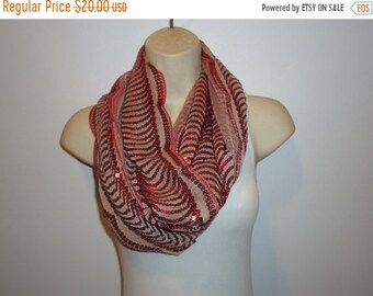 50% OFF Beautiful Burgundy Sequin Scarf