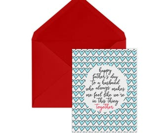 Father's Day Card | Card for Husband | Husband | Card from Wife | Husband Father's Day Card | Teamwork | Married