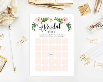 Instant Download - Romantic Vines Bridal Bingo Game Cards