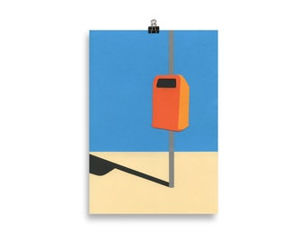Art Print – Orange Trash Can