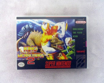King of The Monsters 2 Custom SNES - Super Nintendo Case Only (***No Game***)