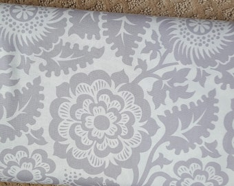 Sale!! Blockprint Blossom Smoke Grey Fabric by Joel Dewberry Modernist Collection Fabric by the Yard