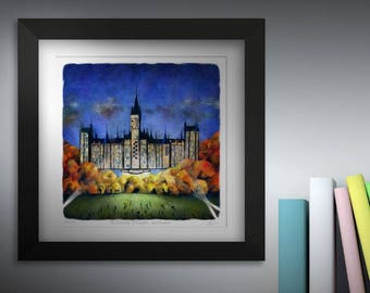 The University of Glasgow, and Beyond! Framed.