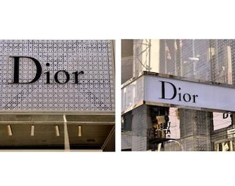 Dior art, French Paris fashion wall art, Dior store boutique sign, girls room art, Dior bathroom wall art, bedroom wall decor, dorm art