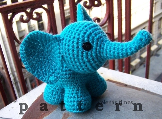 Baby Elephant Instant Download Crochet Pattern Toy