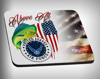 Air Force Armed Forces Mouse Pad Custom Graphic Novelty Mousepad Great Gift Customized Personalized