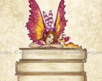 8X10 Book Club II fairy PRINT by Amy Brown