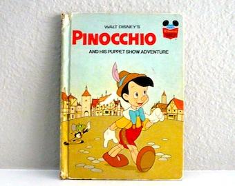 Walt Disney's Pinocchio and His Puppet Show Adventure Vintage Children's Book