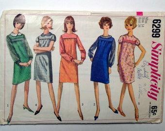 Simplicity 6299 Miss Dress, Size 14, Vintage 1960's