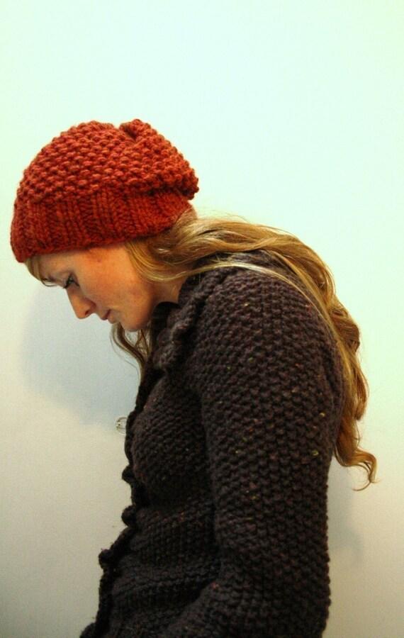 KNITTING PATTERN // Autumn hat // seed stitch super bulky