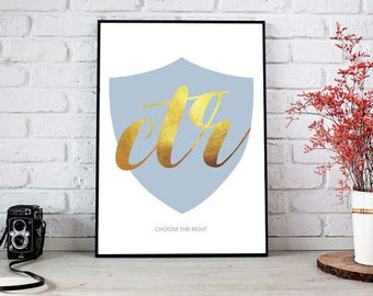 16 x 20 in CTR Blue PDF Printable Poster