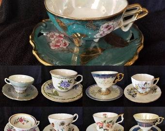 Variety of Vintage Tea Cup