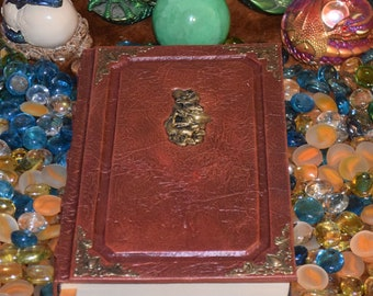 Chinese Asian Dragon Medallion Book grimoire spellbook tome larp cosplay