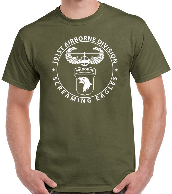 101st Airborne T-Shirt - air assault badge with 101st airborne patch design 1112 6x8PcI