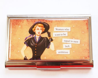 Business Card Case, Funny Card Case, Humor, Funny Business Card Case, Card case, business card holder, Ambition (3006)