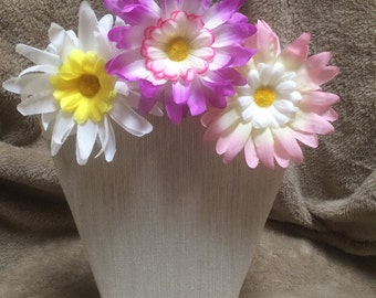 Double Flower Hair Clips- 3 Clip Variety Pack