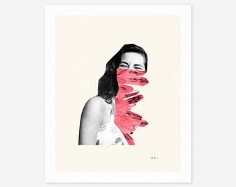 SMILE (Giclée Fine Art Print/Photo Print/Poster Print) Surreal, Minimal, Abstract Collage