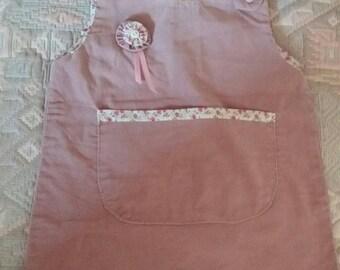 corduroy dress and pink liberty