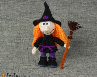 Witch doll OOAK art doll Halloween witch Collectible doll Halloween gift Fantasy art doll Halloween decor Witch figurine Halloween art doll
