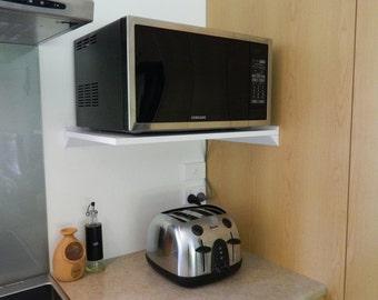 Floating Microwave shelf